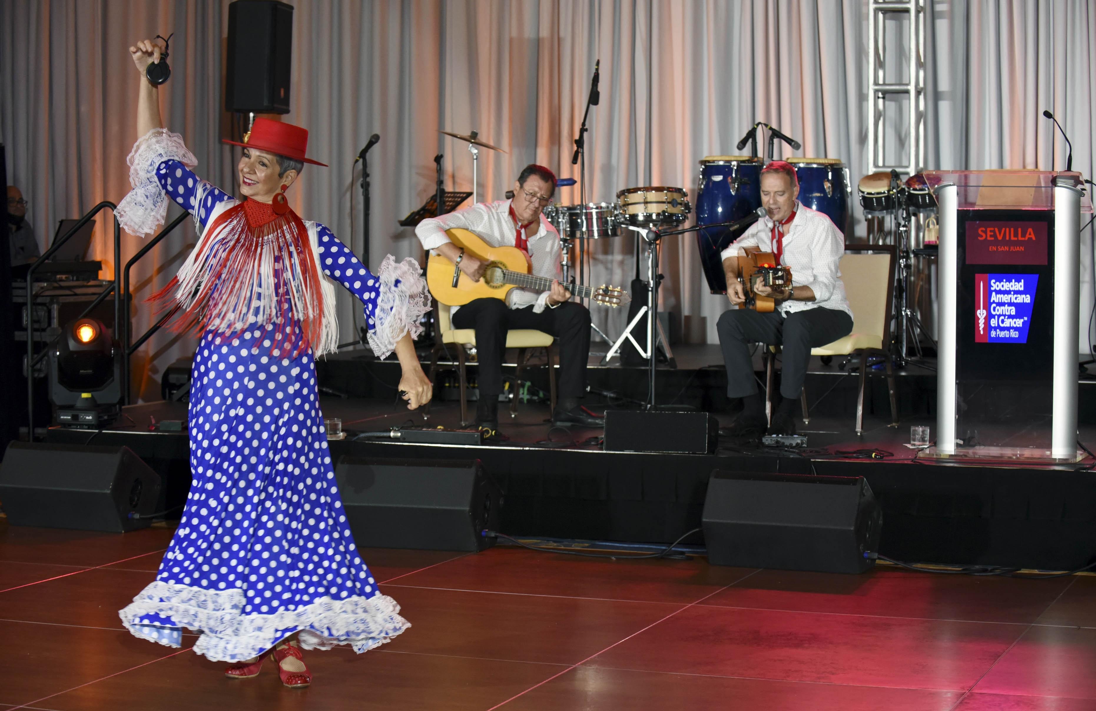 El evento celebrado en el Fairmont El San Juan Hotel   contó con un espectáculo artístico a cargo de Rumba Flamenca con Pepe y Tacatá. (Suministrada)
