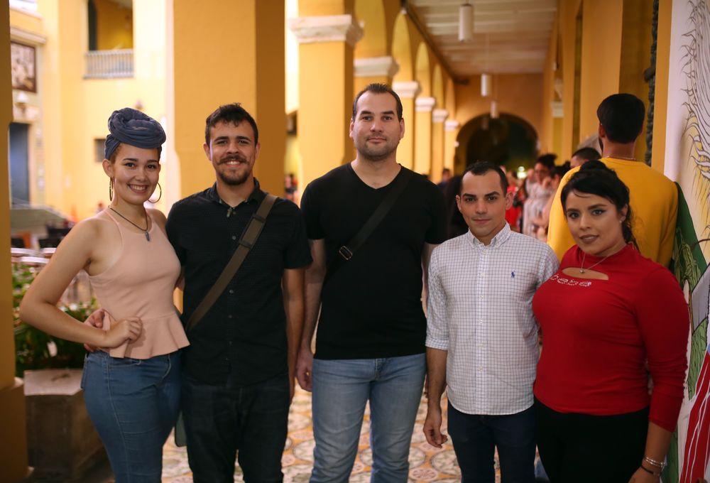Nelmarie Rodríguez, Ronualdo Vázquez, Diego Benvenuti, Ronaldo Vázquez y Yeiraice Cruz. (Foto: José Rafael Pérez Centeno)