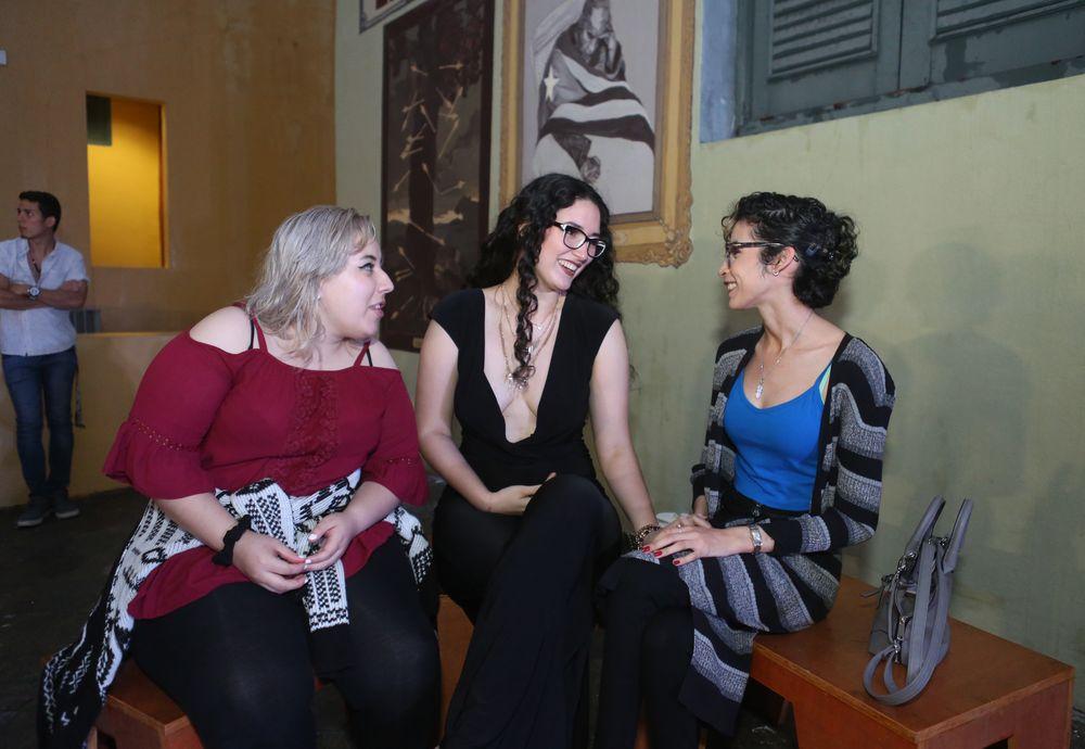 Jack Rodríguez, Estefanía Basabe y Diana Hernández. (Foto: José Rafael Pérez Centeno)