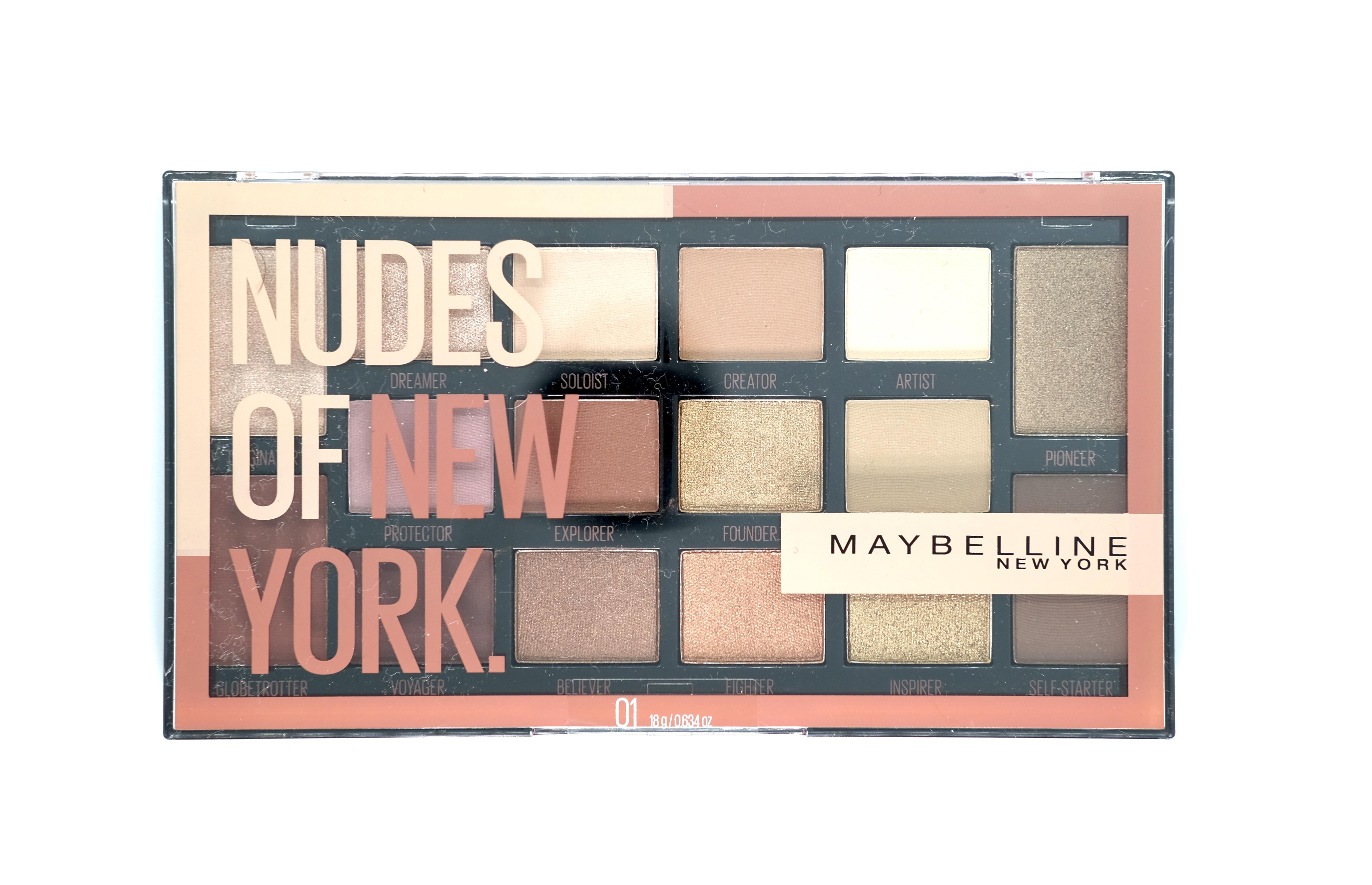 Nudes of New York Eye Shadow Pallette es una opción compacta y fácil de combinar que Maybelline New York te ofrece esta temporada. La paleta consta de 16 tonos neutrales universales, algunos con acabado matte y otros brillosos, que puedes llevar solos o combinar entre sí. (Suministrada)