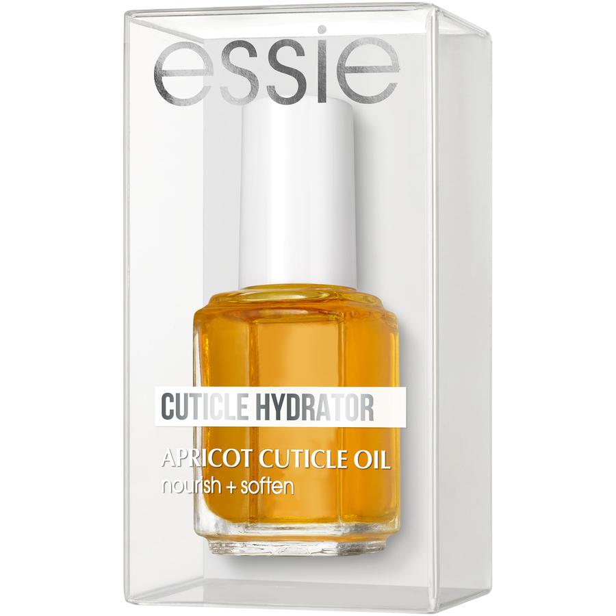 Essie Apricot Cuticle Oil -Es un aceite que acondiciona y protege las cutículas de la  resequedad y las mantiene humectadas y suaves. Disponible en farmacias. (Suministrada)