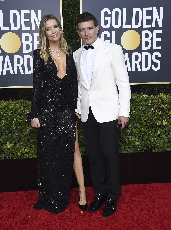 Antonio Banderas y Nicole Kimpel. (AP)