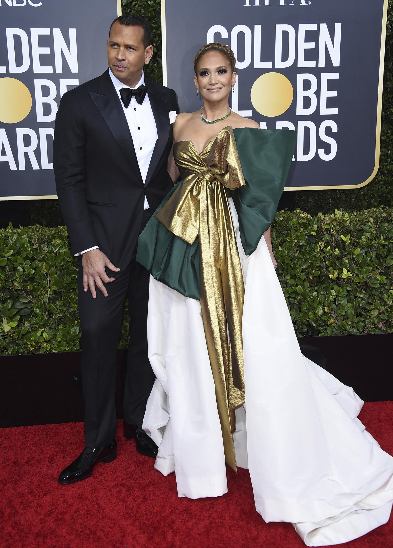 Álex Rodríguez y Jennifer López. (AP)