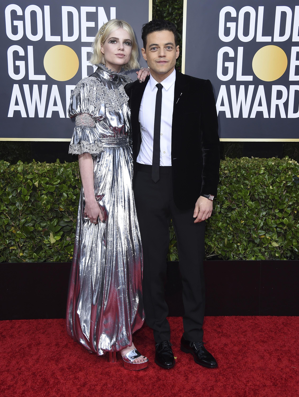 Lucy Boynton y Rami Malek. (AP)