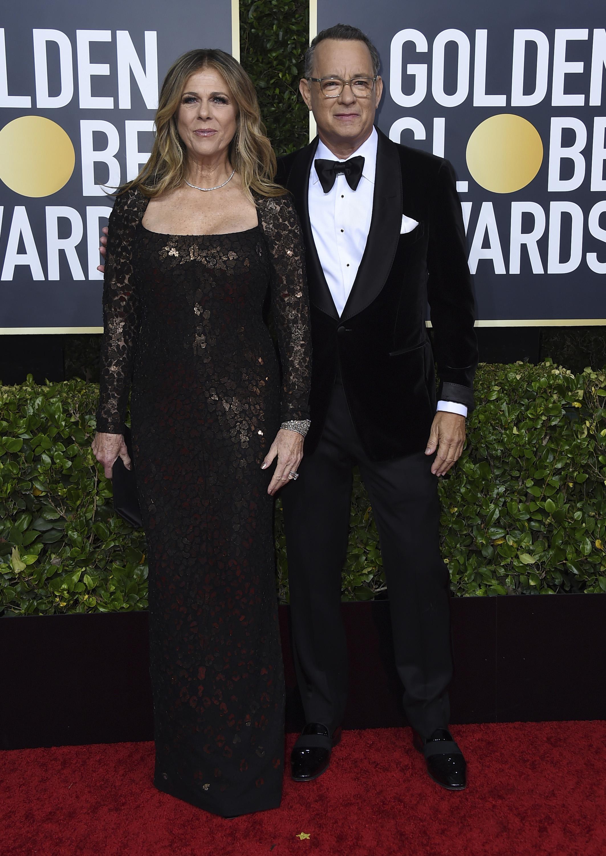 Rita Wilson y Tom Hanks. (AP)