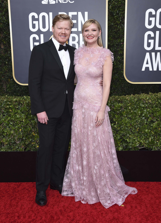 Kirsten Dunst y Jesse Plemons. (AP)