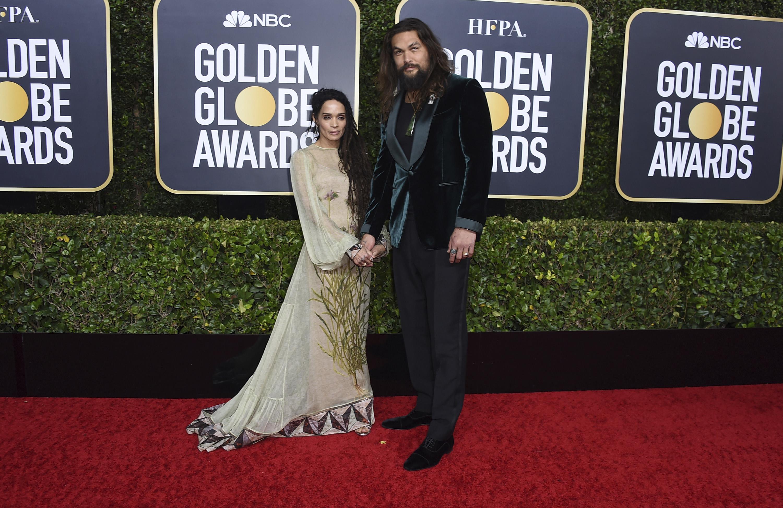 Lisa Bonet y Jason Momoa. (AP)