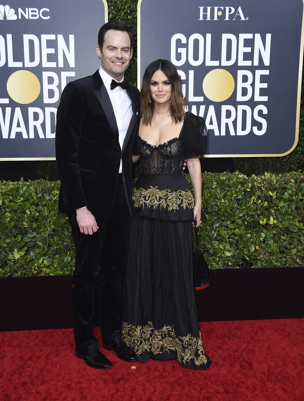 Bill Hader y Rachel Bilson. (AP)
