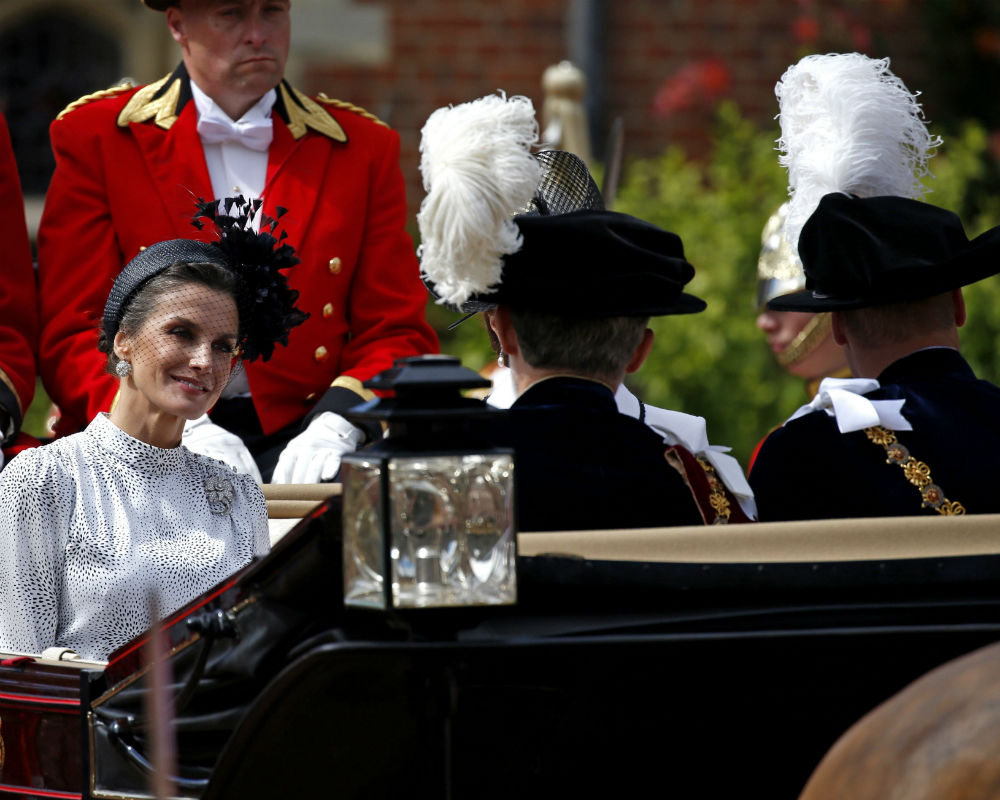 Como ha sido la costumbre desde que se retiró de la vida pública, el duque de Edimburgo no participó. (EFE)