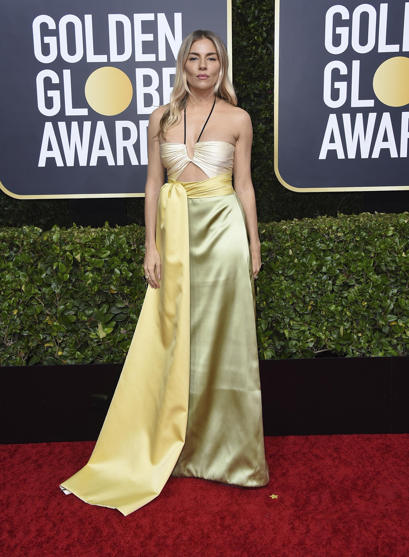 Sienna Miller en Gucci y joyas de Forevermark. (AP)