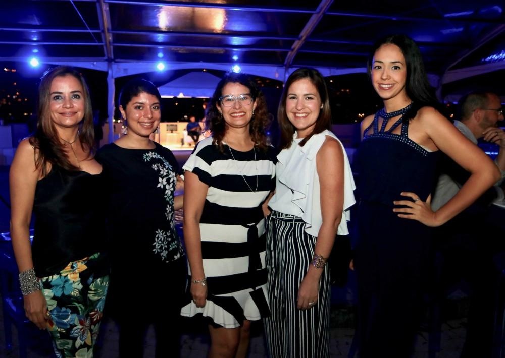Lorraine Urdaz, Claudia Jaquez, Carmen Torres, Ivette Alvarez y Johanie Santiago. (Foto Suministrada)