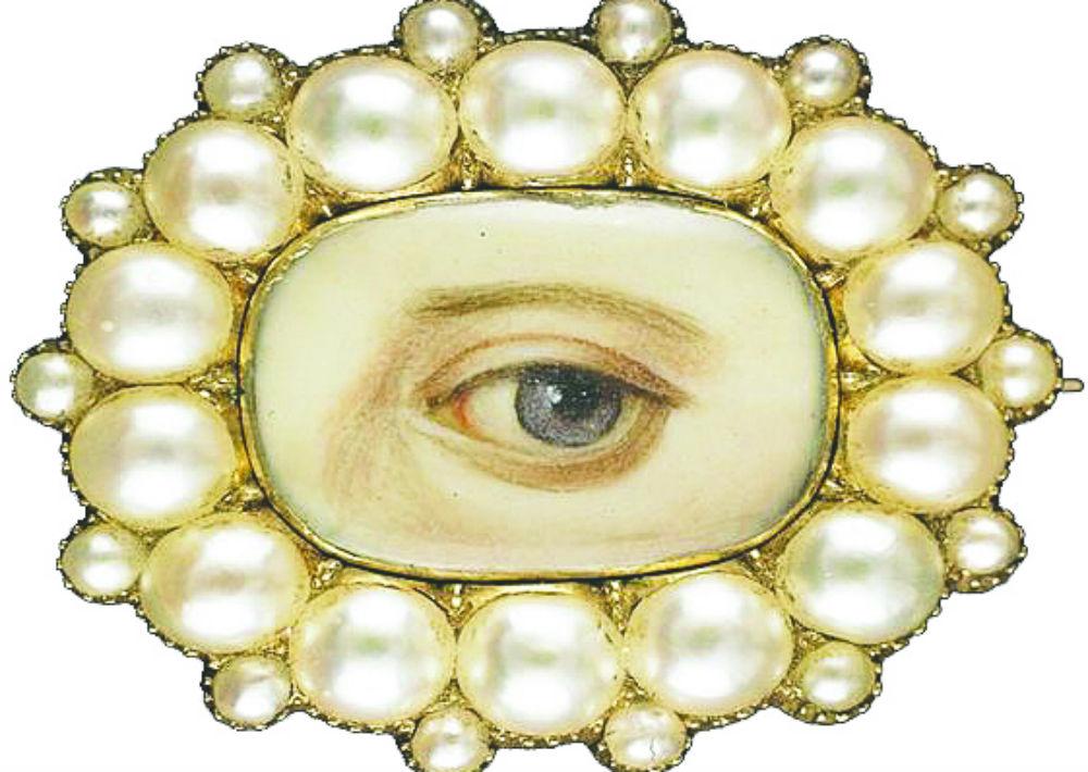 """""""Los ojos del amante""""… Obsesionada con estas joyas en miniatura, muy populares en Europa en los siglos 18 y 19. Con ellas, los amantes declaraban en público amores clandestinos. (Foto: Suministrada)"""