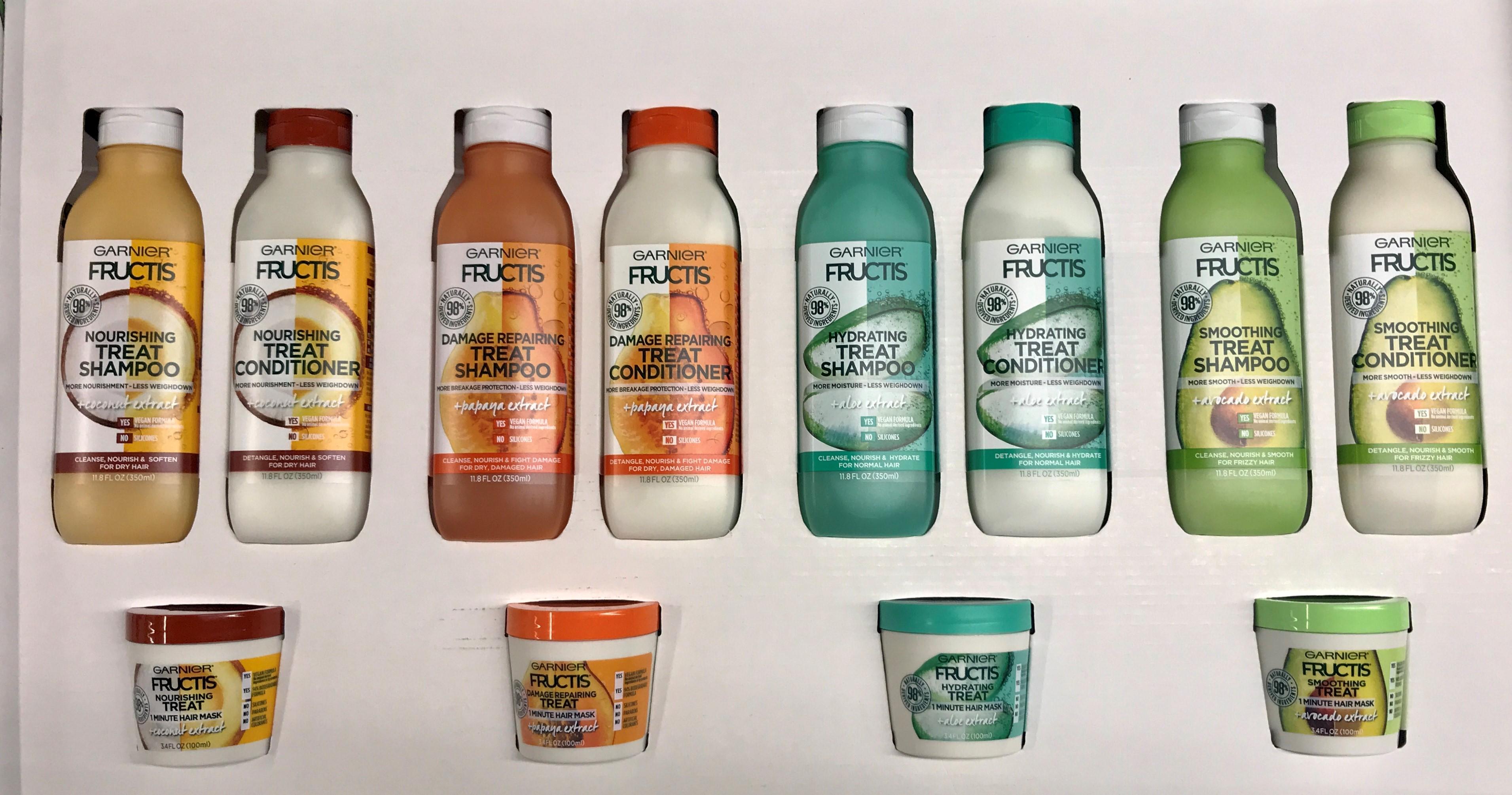 Garnier lanzó una colección de champús, acondicionadores y mascarillas veganas llamada Garnier Fructis Treats cuya fórmula es 98% derivada de ingredientes naturales, 94% biodegradable y libre de siliconas, parabenos y colorantes artificiales. (Suministrada)