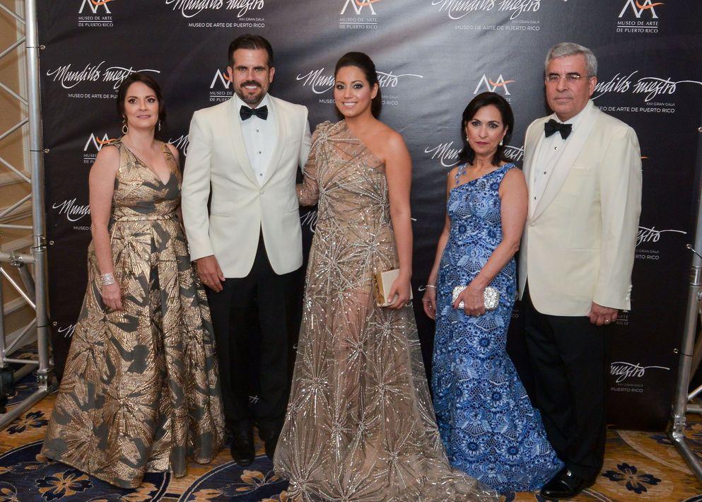 Marta Mabel Pérez, Ricardo y Beatriz Rosselló, junto a Isis Carballo, y Arturo García.