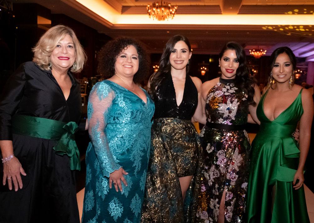 María Félix, Liliana Cubano, Gabriela Alvarado, Viviana Mercado y Zulmary Ayala. (Ricky Reyes/ Especial para Magacín)