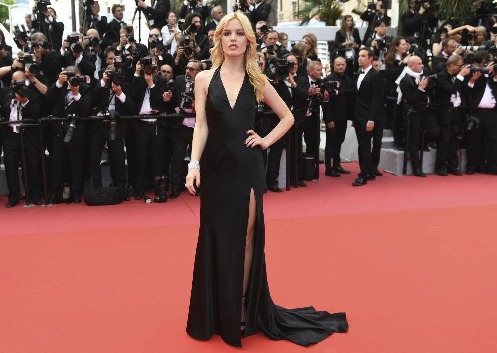 La modelo Georgia May Jagger llegó a la ceremonia de apertura de la edición número 71 del festival internacional de cine de Cannes. (AP)