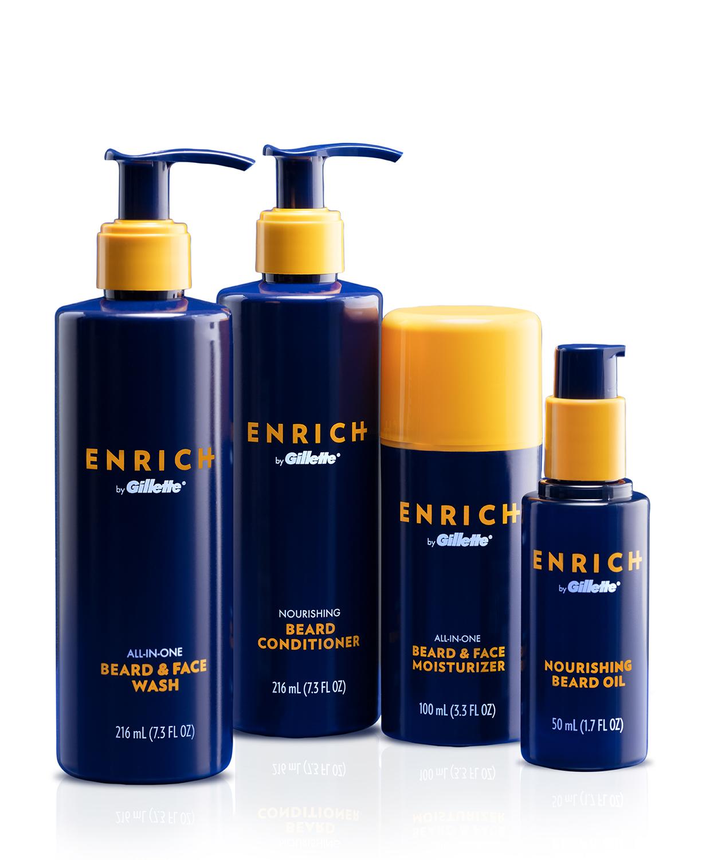 Enrich de Gillette -Productos diseñados para el cuidado de la barba. A la venta en CVS. (Suministrada)