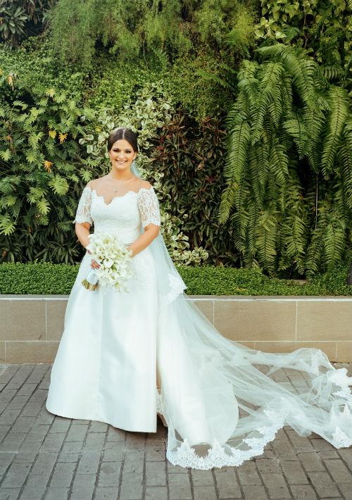 Vestido de la novia: Harry Robles. (Suministrada)