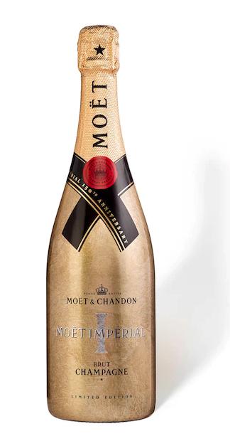 Botella de champán Moët edición 150 aniversario en negra o dorada de La Enoteca. (Suministrada)