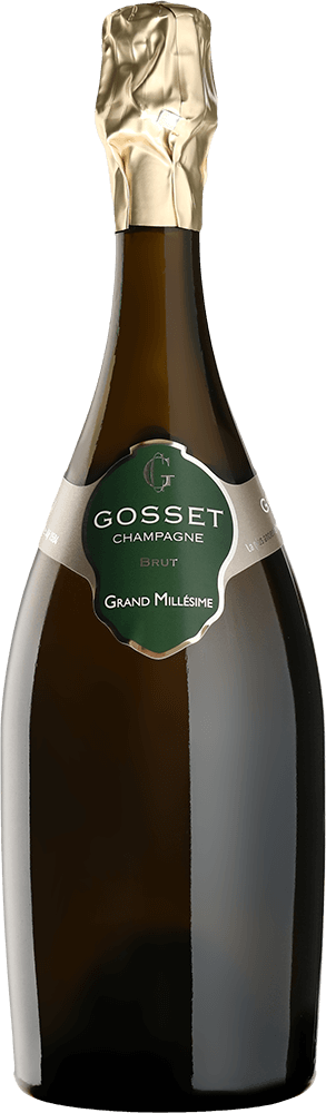 Botella de champán francés Gosset, fundado en 1584, de El Hórreo de V. Suárez.
