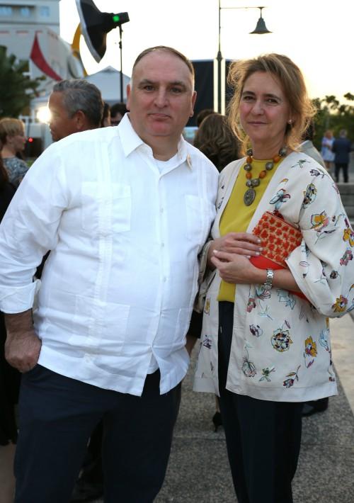 Chef José Andrés y Patricia Fernández de la Cruz. (José Rafael Pérez Centeno)