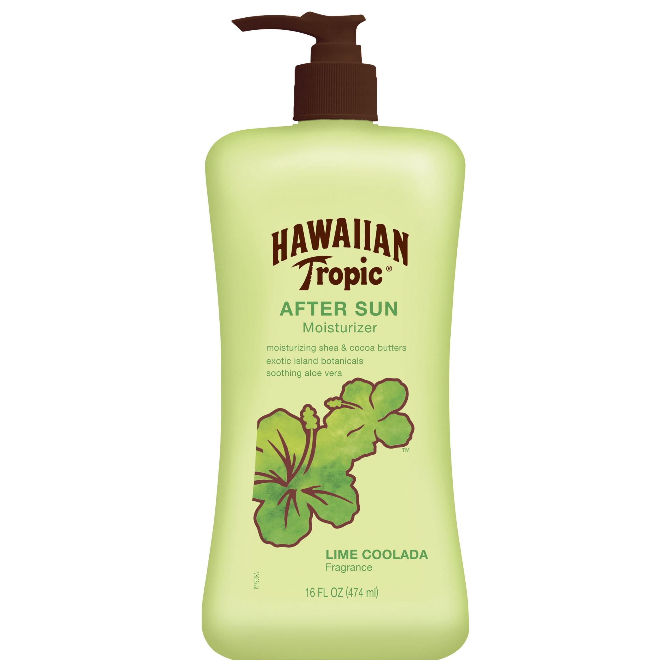 Hawaiian Tropic After Sun Moisturizer Lime Coolada una crema que mezcla mantequilla de karité y cocoa con sábila para hidratar a la vez que calma la piel. A la venta en farmacias. (Suministrada)