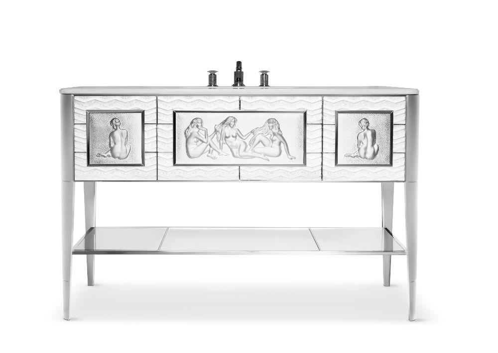 Tocador de cristal Lalique e Yves Rochon Causeuses. (Foto: Suministrada)