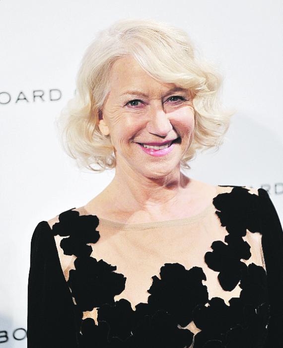 El cabello blanco es un sello distintivo de la actriz Helen Mirren. (Archivo)