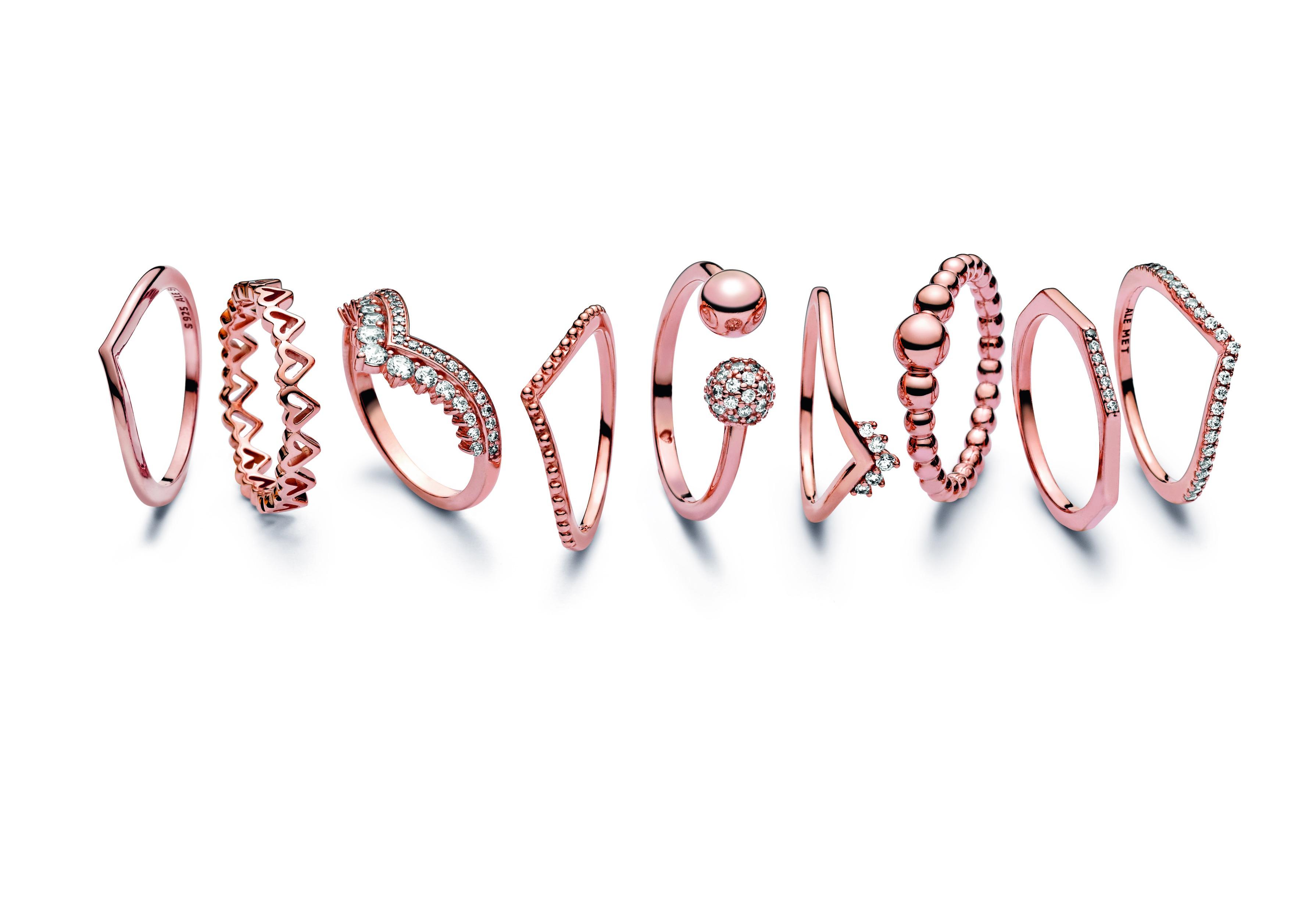 """Colección de sortijas """"stackables"""" de Pandora. (Suministrada)"""