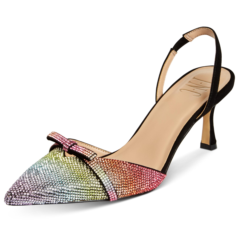 """Zapato estilo """"slingback"""" con tacón """"kitten"""" de INC International Concepts Gelsey Rainbow de Macy's. (Suministrada)"""