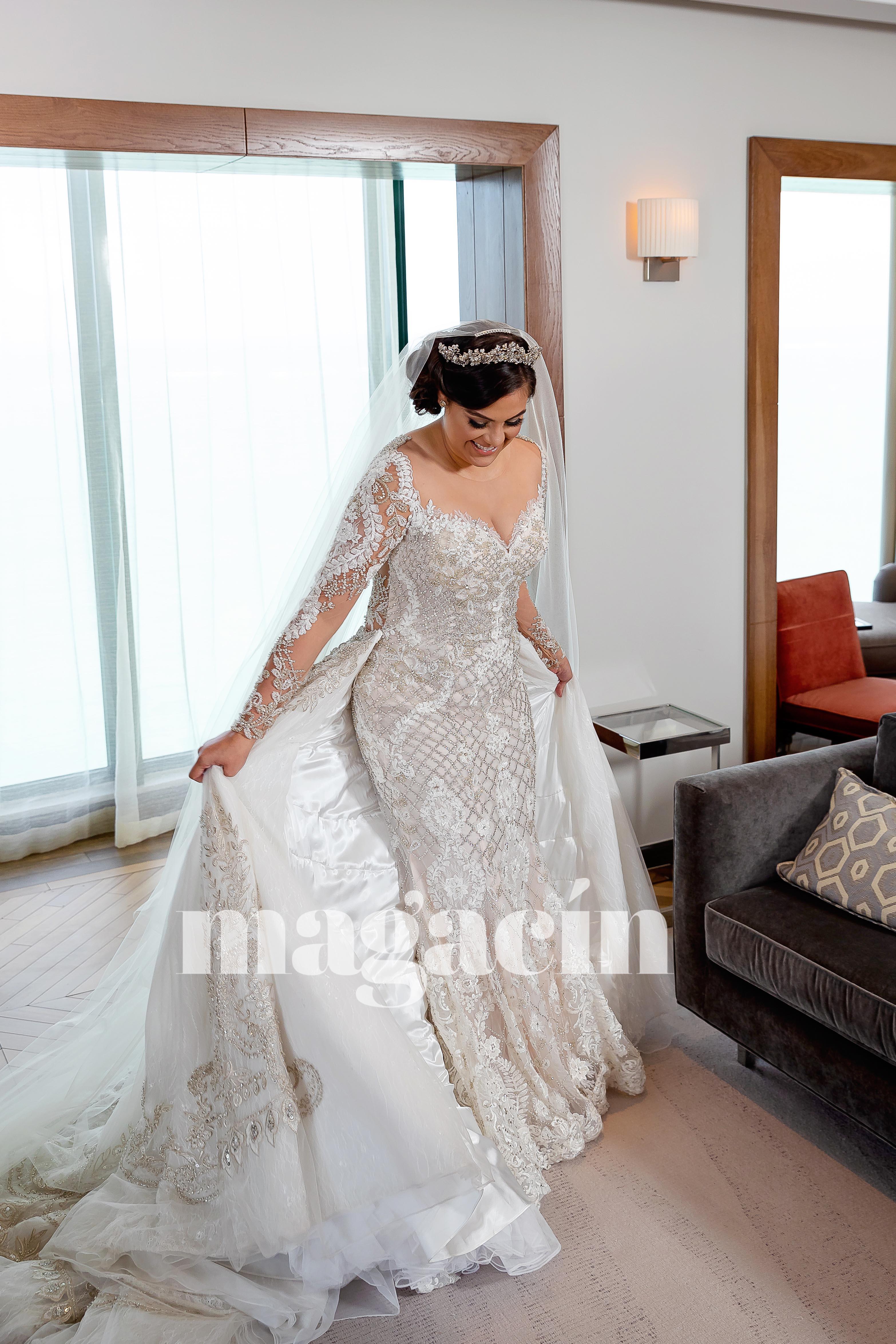 El traje de la novia fue de D'Royal Bride Exclusive Signature. (Suministrada/ Claudette Montero)