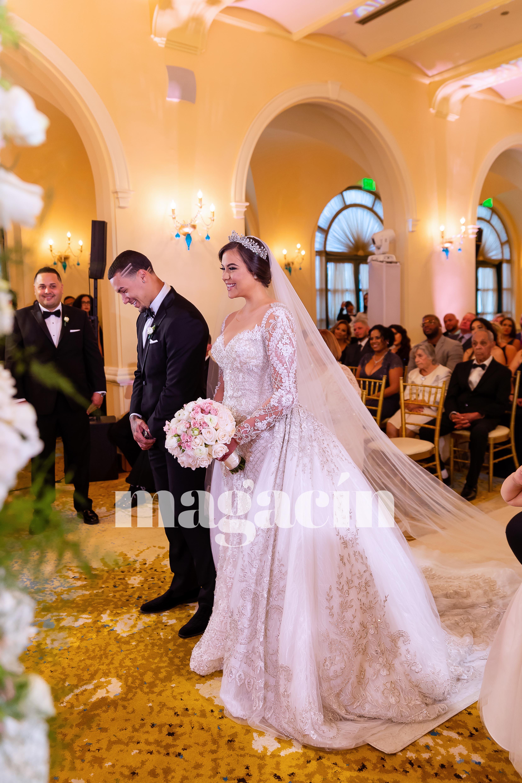 La ceremonia católica y la recepción se celebraron en el Hotel Condado Vanderbilt. (Suministrada/ Claudette Montero)