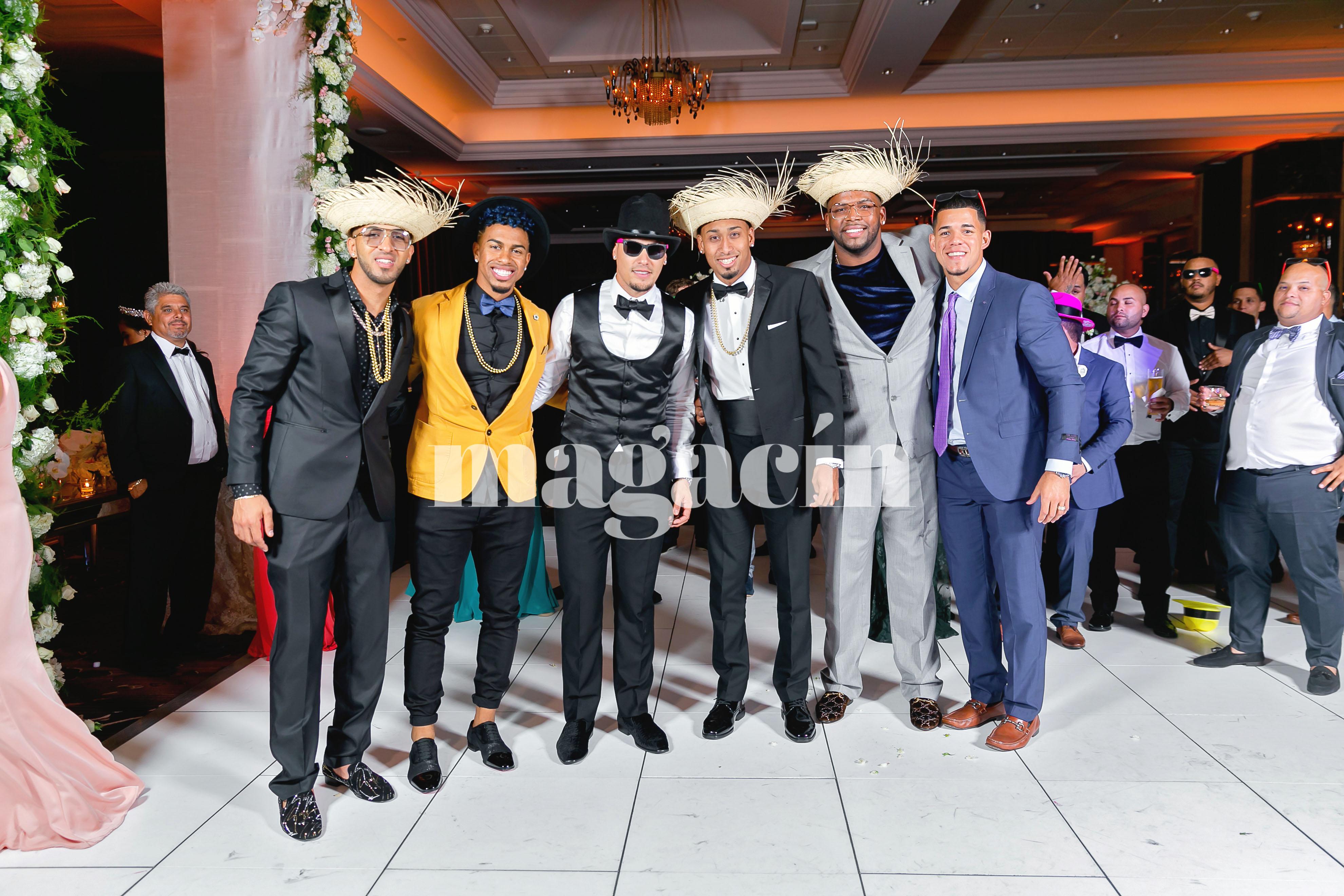 """Parte de nuestro Team Rubio estuvo en el evento, entre ellos Eddie Rosario, Francisco Lindor, José Berríos y Edwin """"Sugar"""" Díaz. (Suministrada/ Claudette Montero)"""