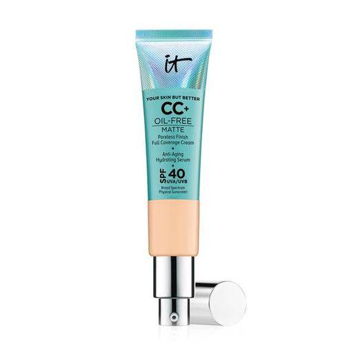 It Cosmetics acaba de añadir a su línea un nuevo CC Cream que además de todos los beneficios que ofrece este tipo de producto, también te ayuda a controlar la grasa. El producto se llama CC+ Oil Free Matte y por el momento está disponible exclusivamente en Sephora. (Suministrada)