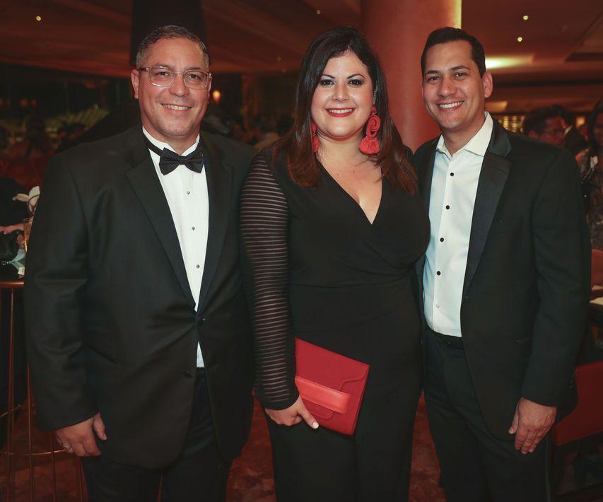 Jaime Sanabria, Cristina Fernández y Carlos López. Foto suministrada