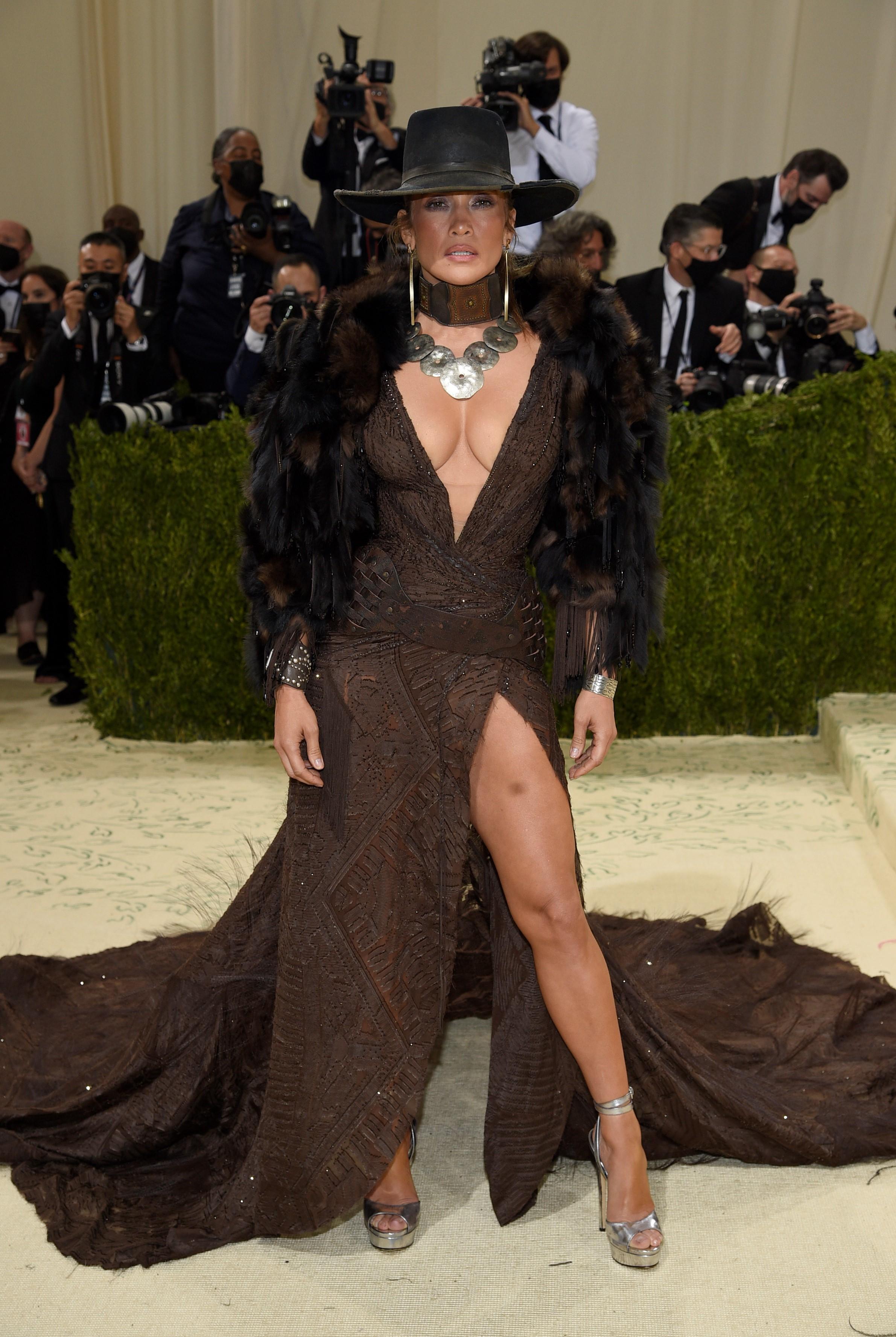 La actriz y cantante Jennifer López en un diseño de Ralph Lauren.