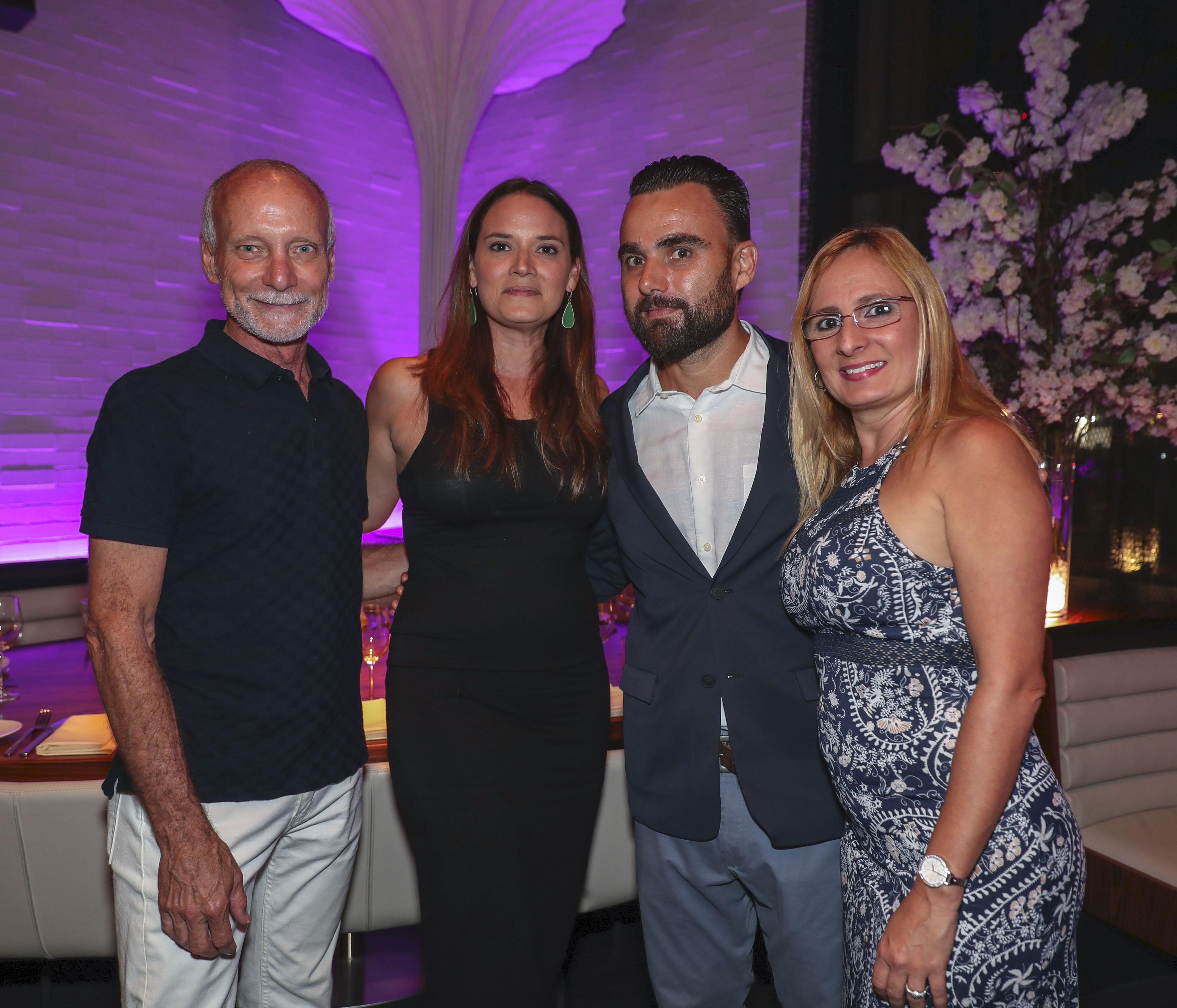 José Marchand, Edna Echani, Emilio Saucedo y Wanda Torres. (Suministrada)