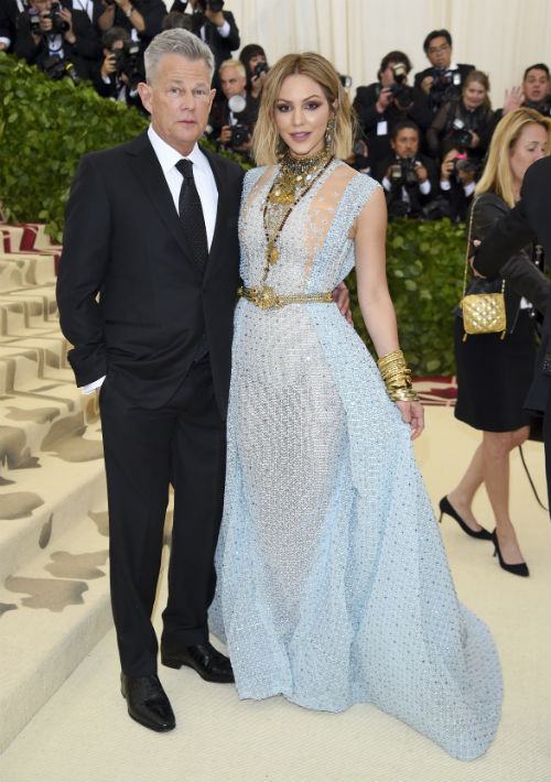 David Foster y Katharine McPhee (AP)