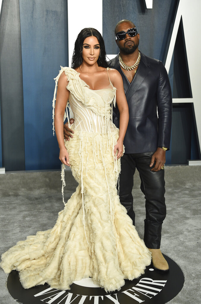 Kim Kardashian y Kanye West. (AP)