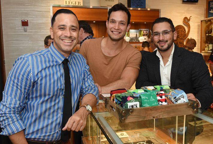 Eric Perlloni, Anthony Villarreal y Ricky Irizarry.