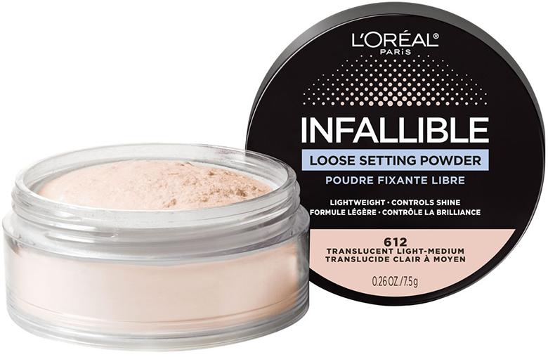 """Para lucir un rostro impecable todo el día, L'Oréal Paris presenta el Infallible Loose Setting Powder, un liviano polvo traslucido que hará que todo """"makeup look"""" dure 24 horas. Está disponible en 2 tonos para suavizar, matificar, iluminar, difuminar y fijar cualquier maquillaje. (Suministrada)"""