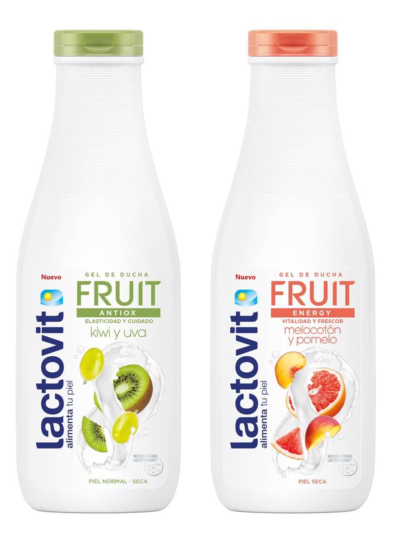 Lactovit presenta un nuevo gel que integra los mejores componentes de la leche y frutas para aportar los nutrientes que necesita tu piel. Lactovit Fruit está disponible en dos variedades: Antiox y Energy.  (Suministrada)