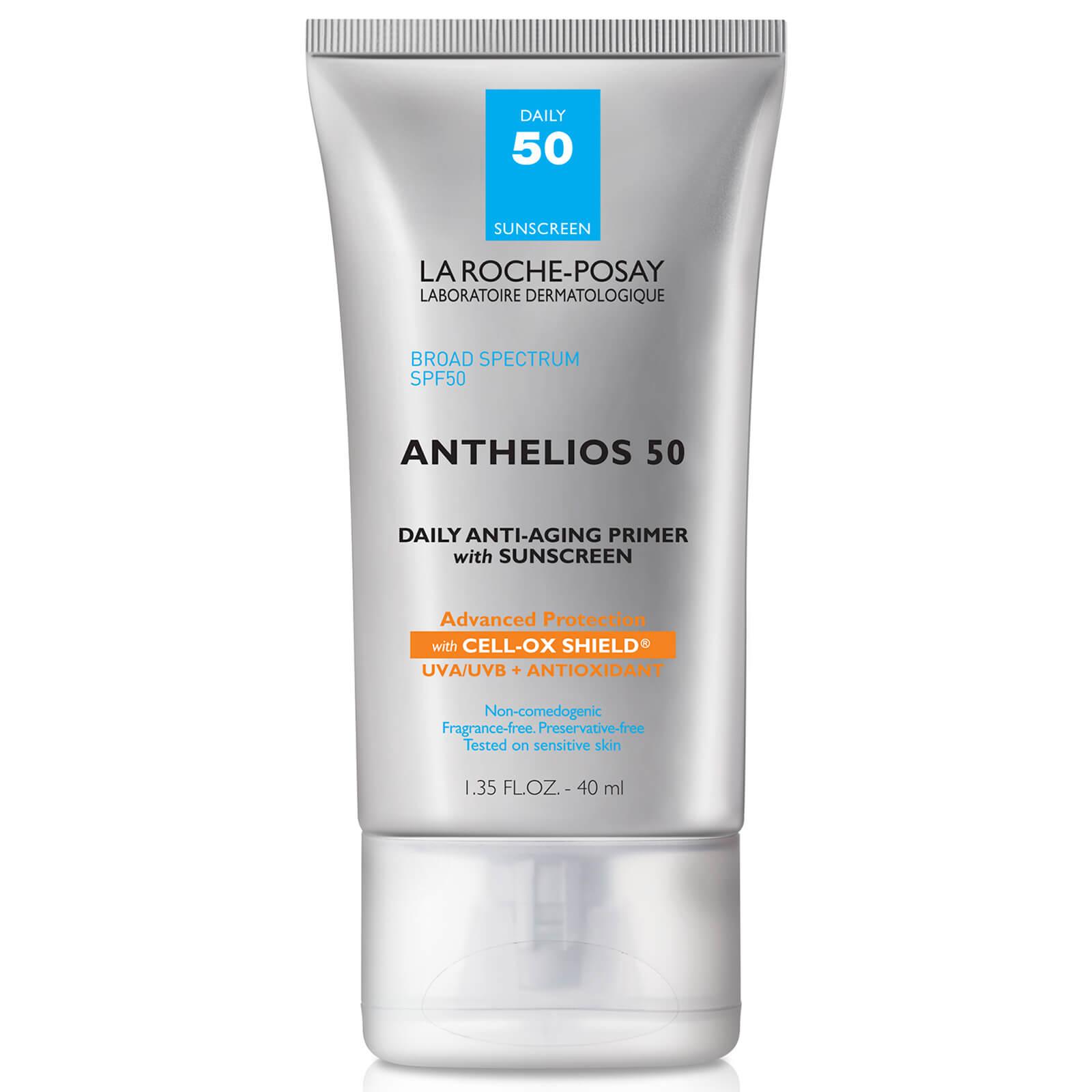 La Roche-Posay Anthelios Anti Aging Face Primer with Sunscreen SPF 50 Cell Ox Shield - Este producto promete combatir los signos de la edad mientras protege tu rostro del sol y lo prepara para recibir el maquillaje. (Suministrada)