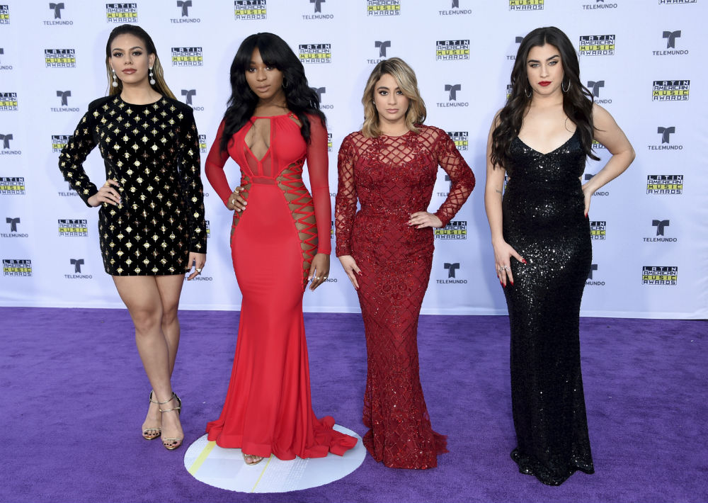 Dinah Jane, desde la izquierda, Normani Kordei, Ally Brooke, y Lauren Jauregui deFifth Harmony. (Photo by Richard Shotwell/Invision/AP)