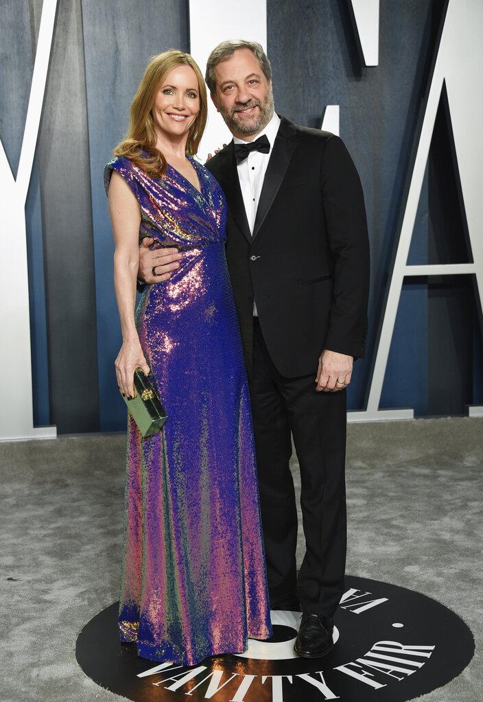 Leslie Mann y Judd Apatow. (AP)