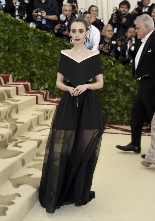 La actriz Lily Collins (AP)