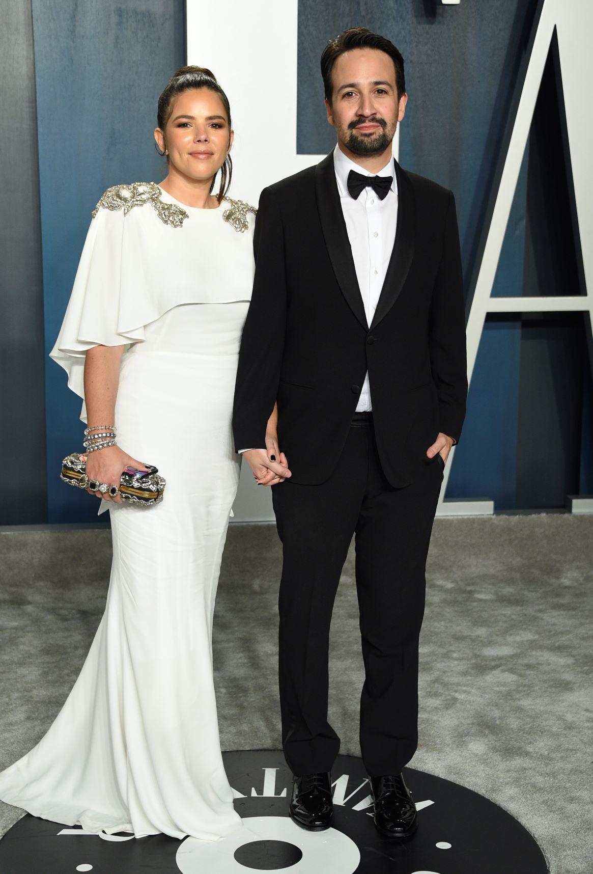 Lin-Manuel Miranda y su esposa, Vanesa Nadal. (AP)