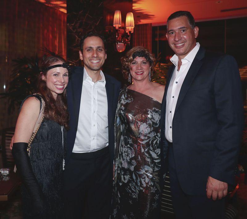 Loren y Jason Borschow, Rita Garay y José M. Suárez. Foto suministrada