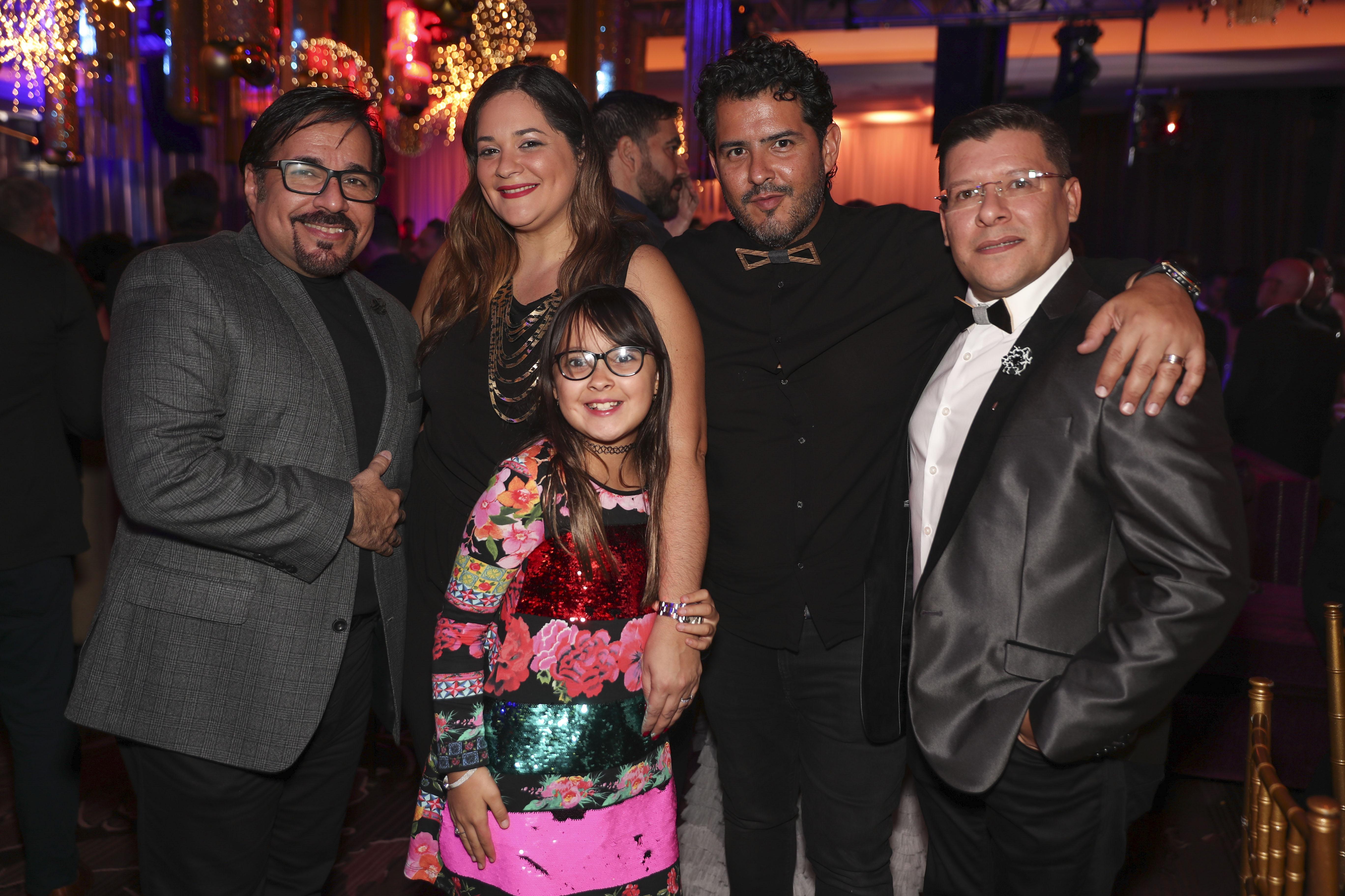 Luis Santiago, Liliana Pastor, Leah Aguayo, José Aguayo y Ricardo Calderón. (Suministrada)