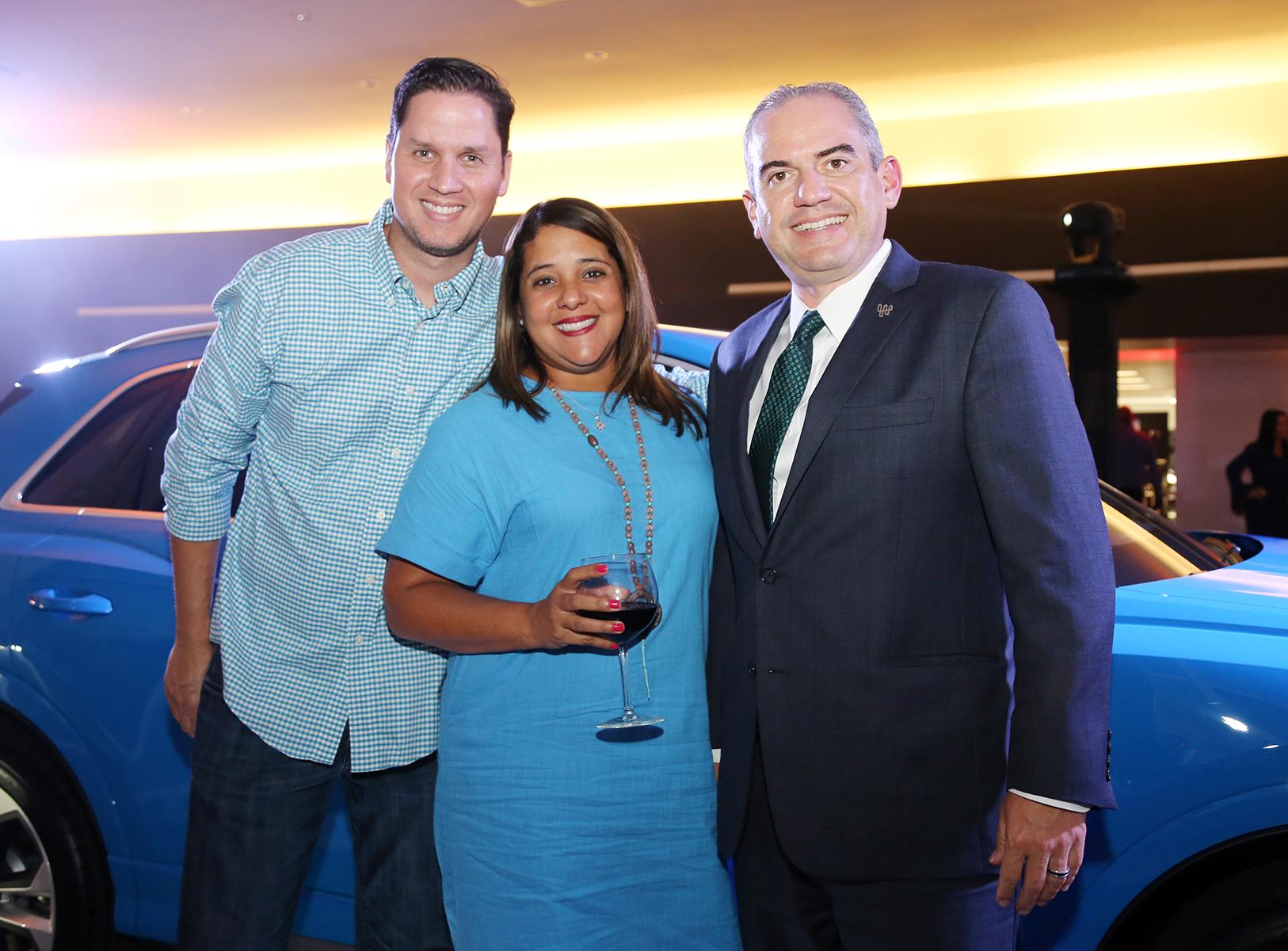 Wilfredo Cabán, Griselle Ortiz y Daniel del Castillo. Foto Nichole Saldarriaga